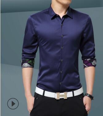 2018 frühling und herbst dünne männer lange-hülse hemd junge Koreanische version von selbst-dressing und niedrigen -bügeln hemd business GZ-101