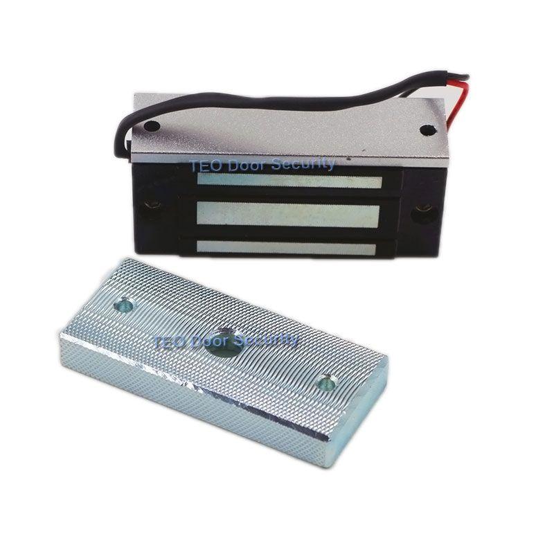 60 kg 100Lbs fuerza 12VDC instalación visible gabinete cerradura magnética mini bloqueo archivador pequeño maglock sola puerta NC acceso