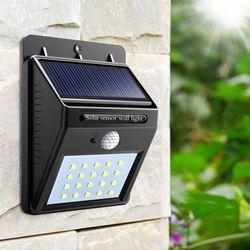 20 led Outdoor Solar Sensor LED Light PIR Motion Sensor solar lamp Detection Range With Dusk to Dawn Dark Security light