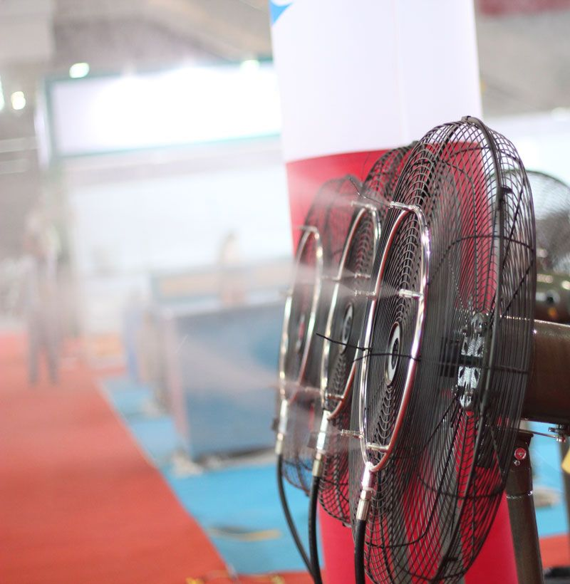 L084 HAIGINT Watering & Irrigation Sprayers Outdoor Cooling Misting System Misting Fan Rings