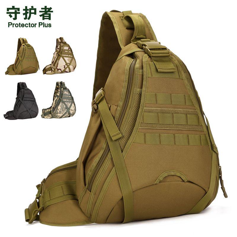50 CM très grande capacité sac à dos à bandoulière sac à bandoulière tactique 14 pouces ordinateur portable poitrine pack équitation alpinisme A3174