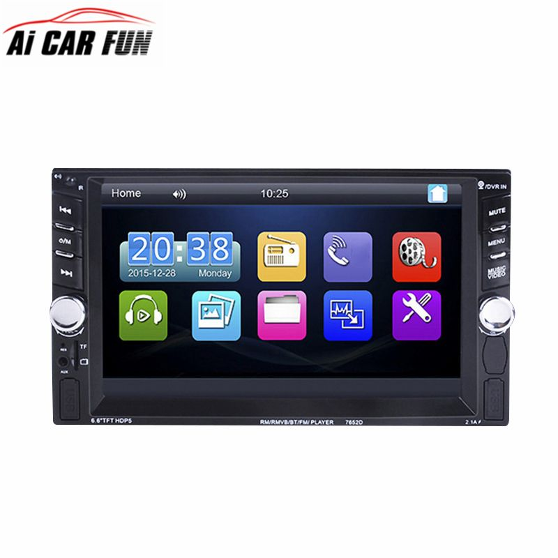 7652 Double Dins Car Auto Radio Player autoradio 6.6