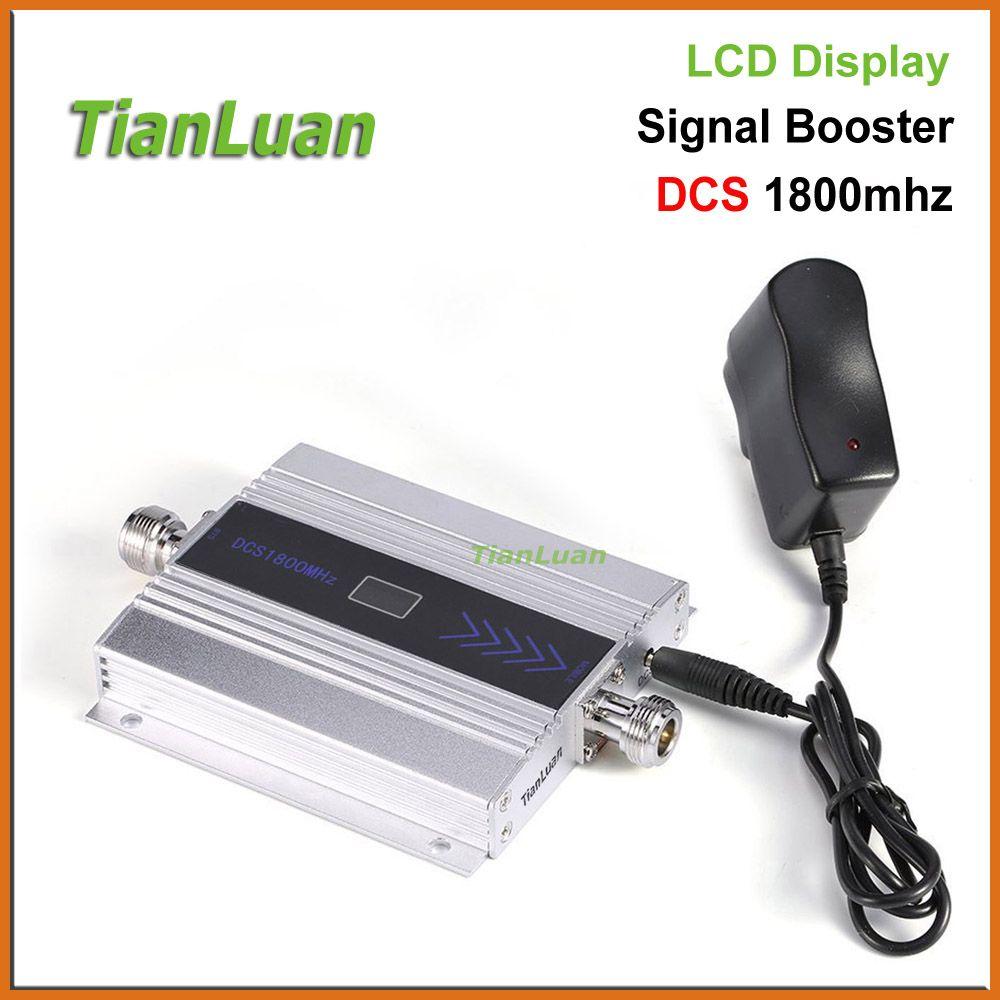 TianLuan mini DCS 1800 MHz Téléphone Mobile Signal Booster 2G 4G 1800 MHz Répéteur de Signal Amplificateur de Téléphone portable avec Power Adapter
