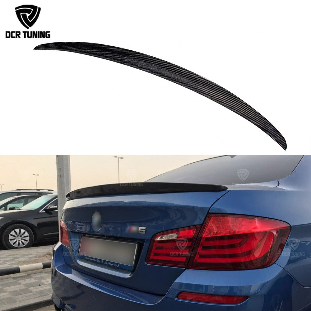 P Style For BMW F10 Spoiler Performance 2010-UP 5 Series Sedan F10 Carbon Spoiler F10 M5 Rear Trunk Wings M Series F90 M5 2018+