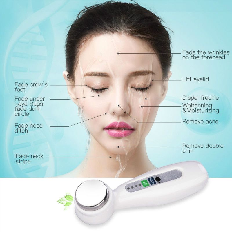 CkeyiN Ultrasonic Vibration Beauty Instrument Face Lift Tightening Facial Deep Cleansing Skin Care Cosmetic Device Machine S50