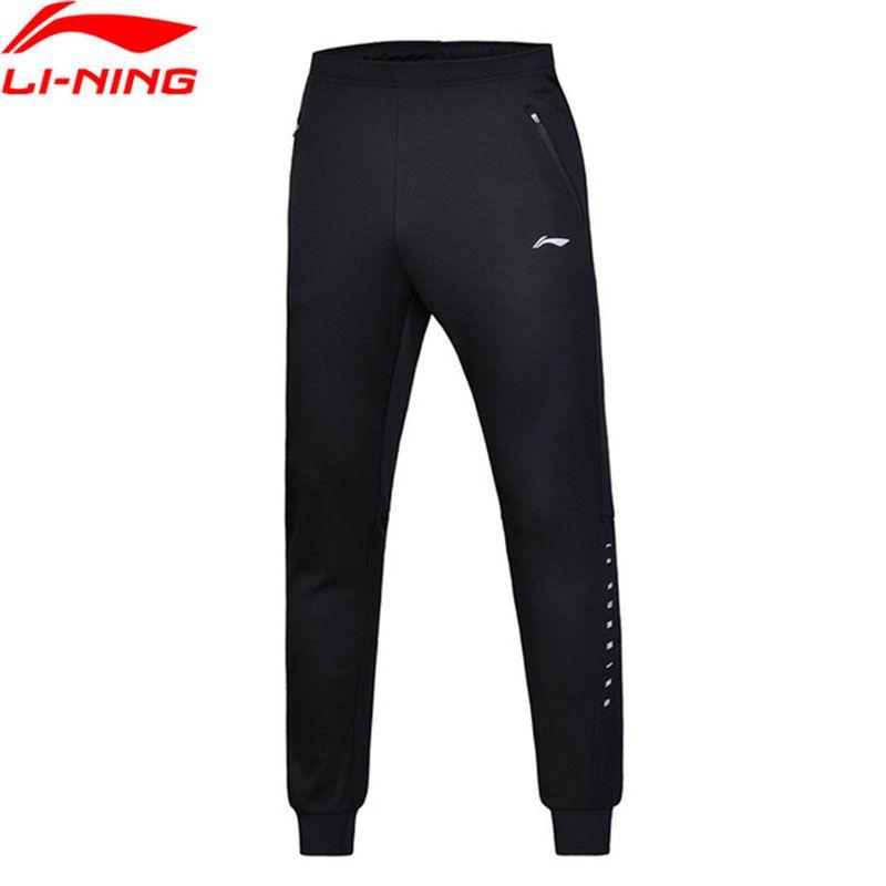 Li Ning Männer Stricken Sport Hose Regular Fit 100% Polyester Li Ning Atmungsaktiven Komfort Sport Hosen Hosen AKYN005