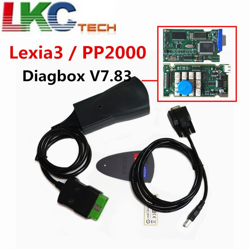 Professional Lexia3 PP2000 Lite Diagbox V7.83 PSA XS Evolution For Ci-troen/For Pe-ugeot LEXIA-3 FW 921815C Lexia 3