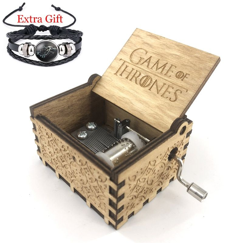 Anonymity hand crank Game of Thrones Music Box For Christmas Day Gifts Game of Thrones theme free gifts bracelet