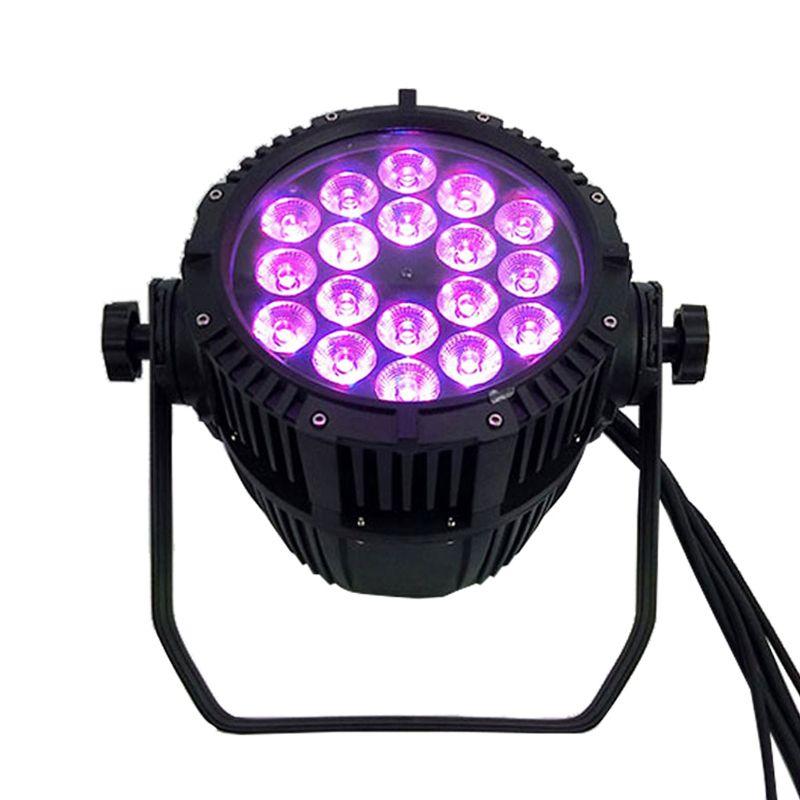 Waterproof LED Par 18x18W RGBWA+UV DMX512 Outdoor IP65 LED DMX Stage Lighting Effect Master-Slave For Disco DJ Music Party Club