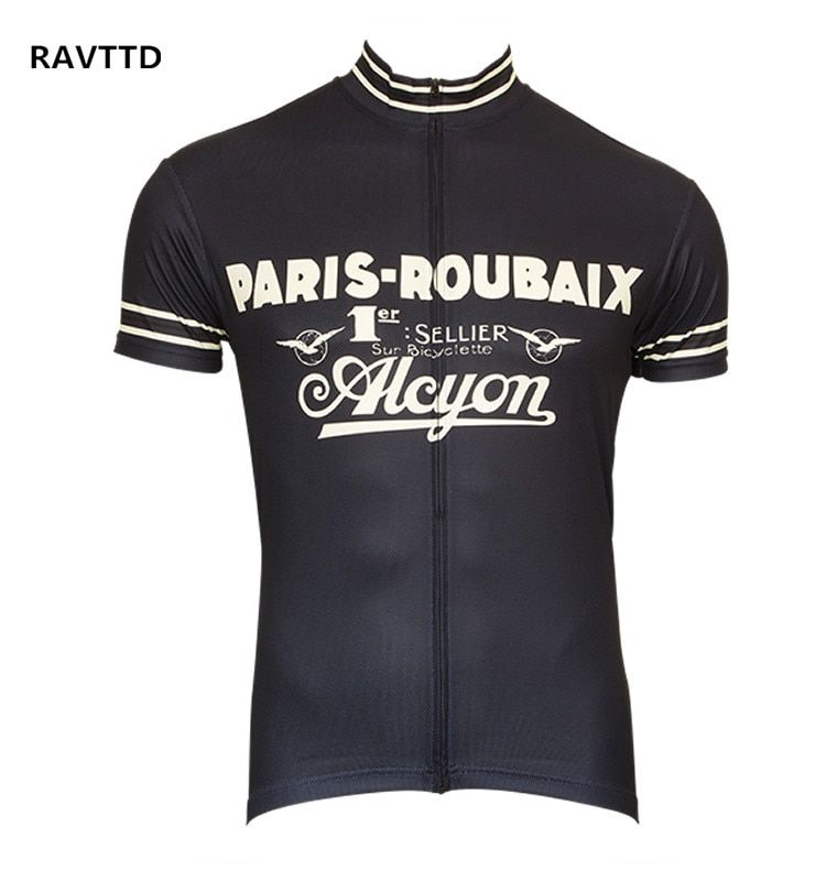 Retro Cycling Jersey Short Sleeve Bicycle <font><b>Bike</b></font> Clothing for Men Ropa Ciclismo Summer Cycling Wear Clothes