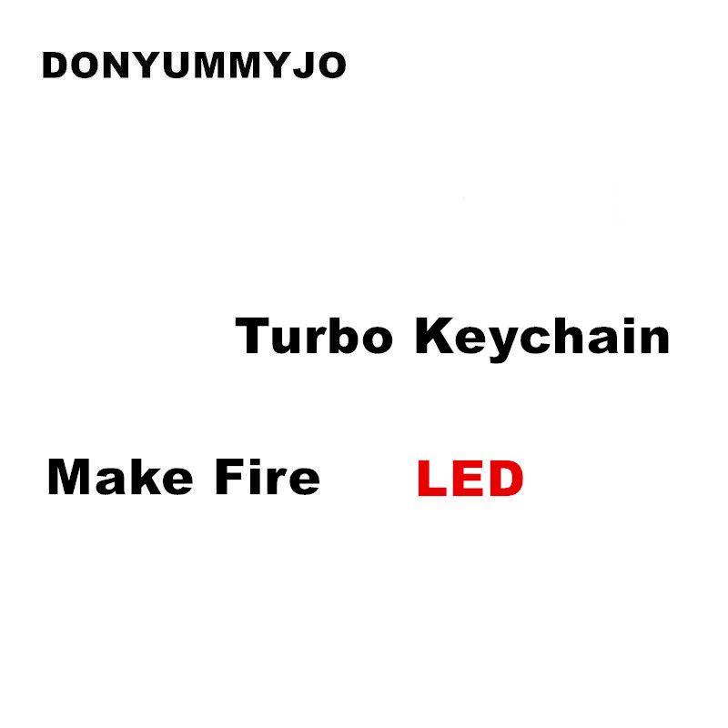 DONYUMMYJO Real Whistle Sound LED Turbo Keychain Make Fire Auto Part Model Turbine Turbocharger Keychain Ring