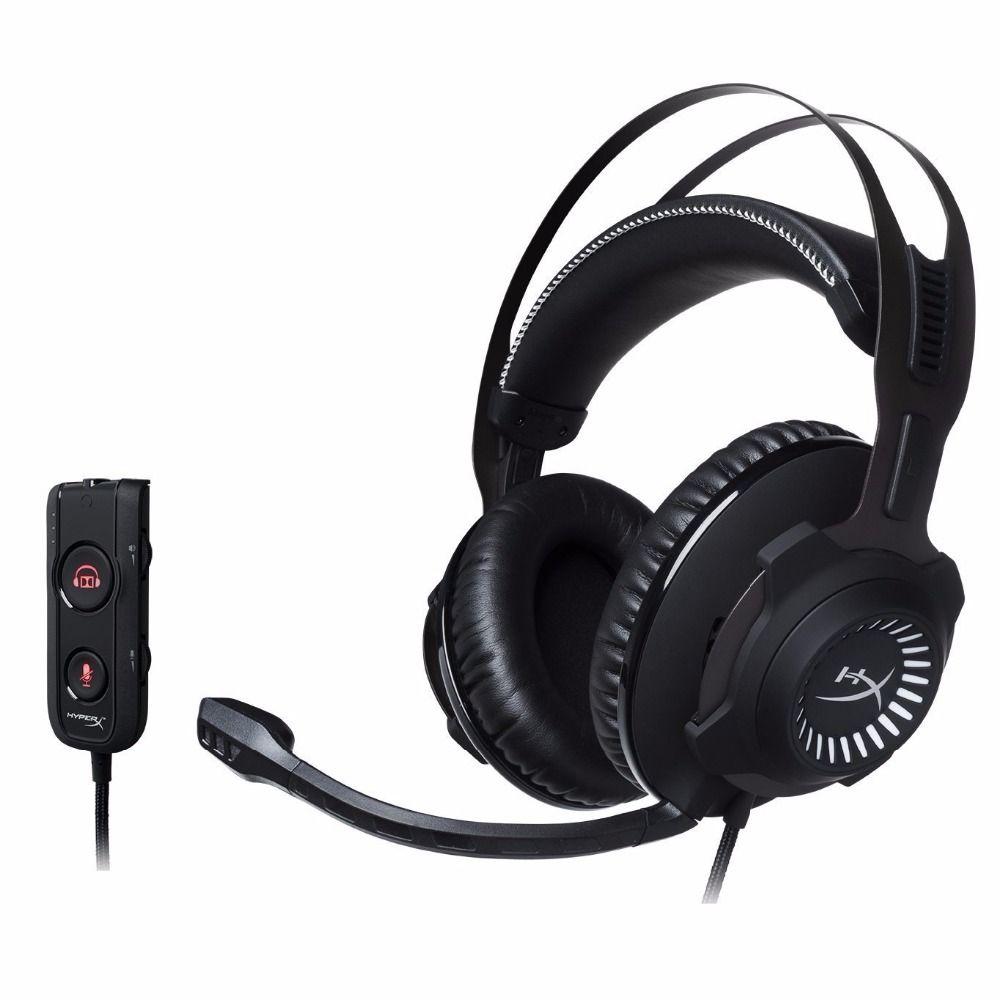 Kingston Hyperx Kopfhörer Écouteur Revolver S Gaming Headset mit Dolby 7,1 Surround Sound 3,5mm Mikrofon für PC PS4 Xbox One S