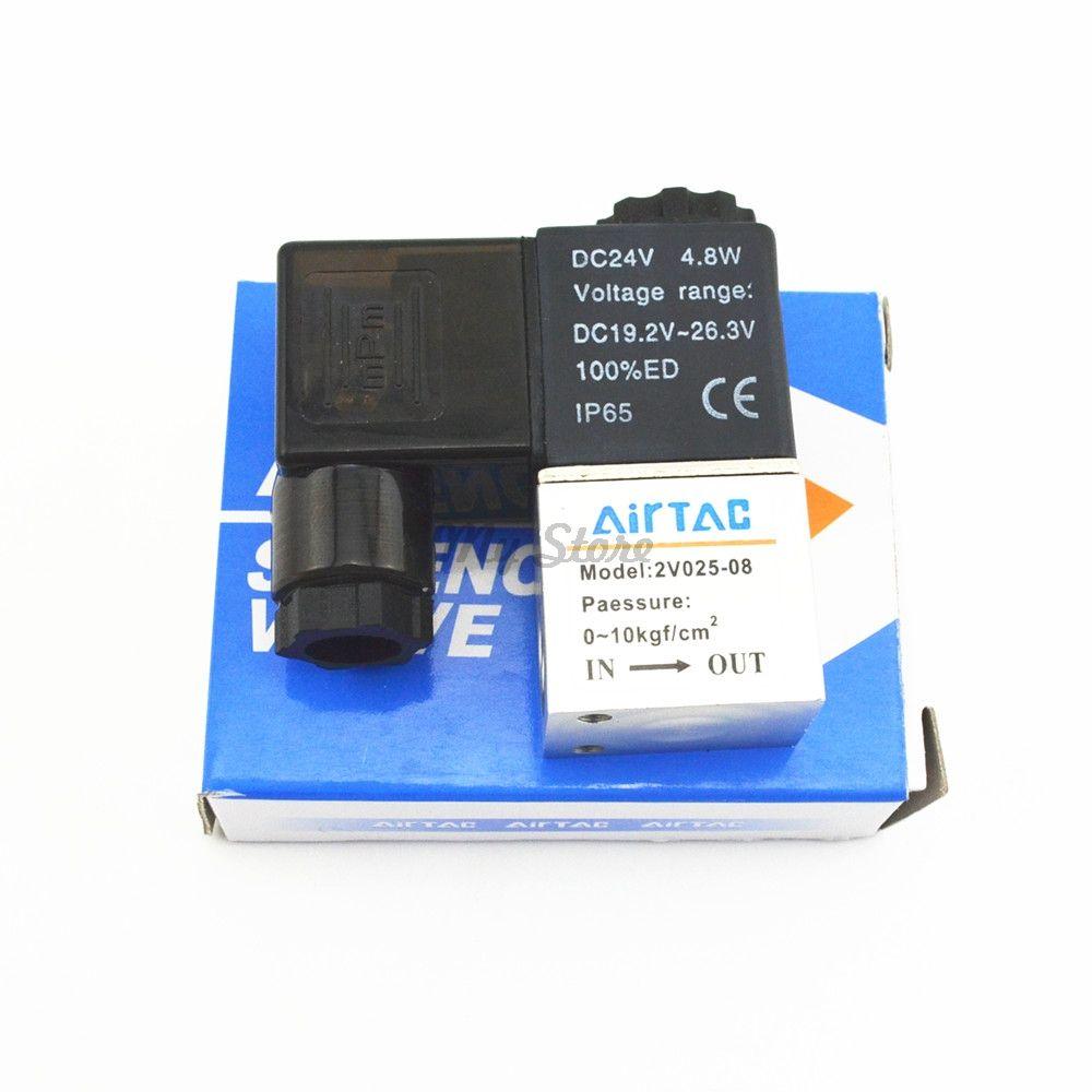 Пневматические 2 Путь 2 Позиция воздуха направленного Управление электромагнитный Клапан 2v025-08 dc12v dc24v AC110V AC220V