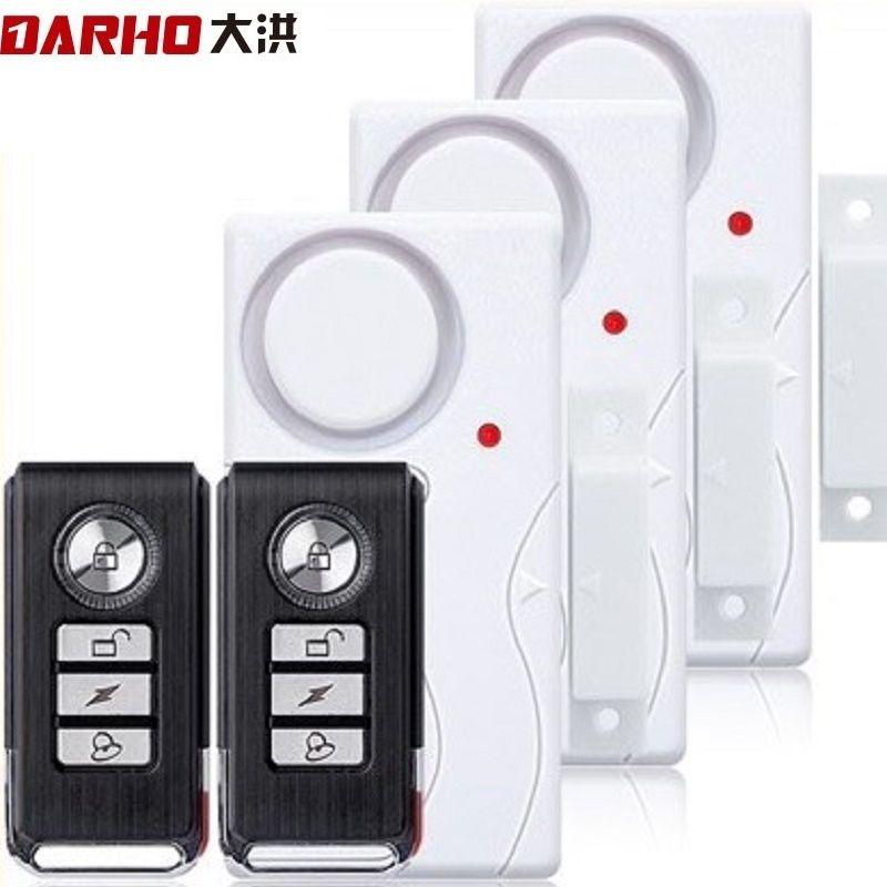 Darho porte fenêtre entrée sécurité sans fil télécommande capteur alarme hôte cambrioleur système d'alarme de sécurité Kit de Protection de la maison