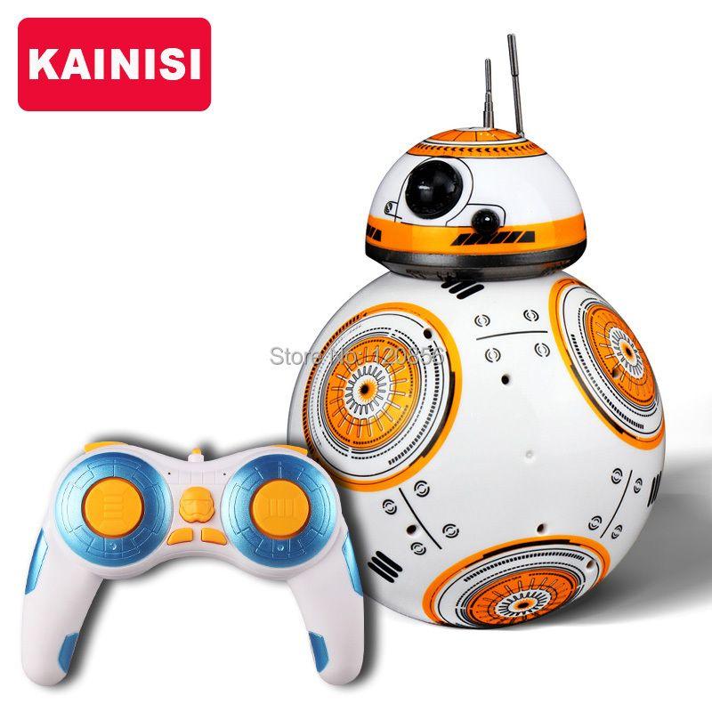 Бесплатная доставка 17 см Star Wars RC 2.4 г BB-8 обновления робот дистанционный пульт BB8 Интеллектуальный робот со звуком RC мяч подарок для детей мал...
