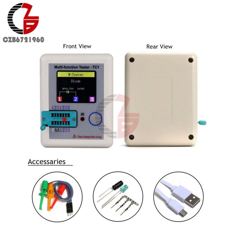 Transistor Tester TC1 TFT Diode Triode Capacitance Meter LCR-T6 TC1 NPN PNP MOSFET