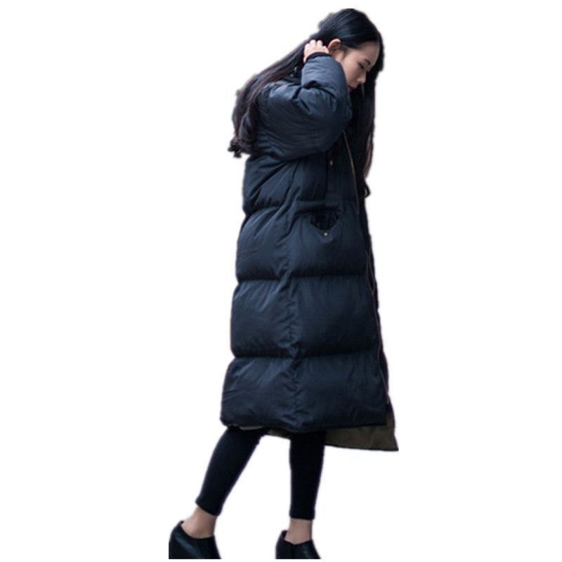 ALI TOPTINA Cotton-padded Clothes Overknee Long Down Woman Thickening Coat Winter Jacket Long Jacket Winter Jacket Women