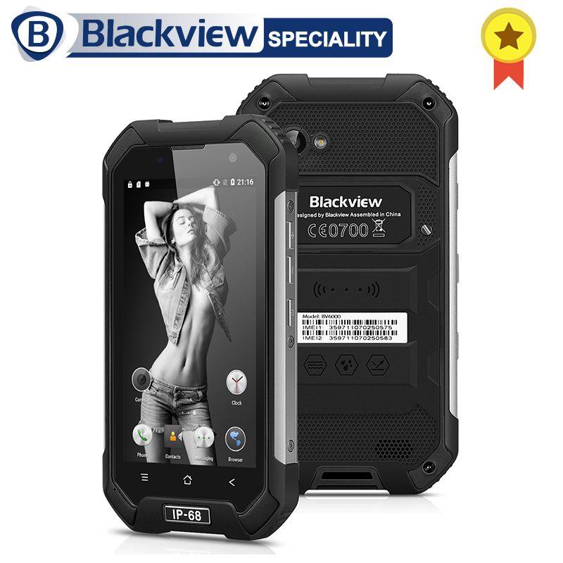Blackview BV6000 Smartphone IP68 Waterproof MTK6755 Octa Core 3G RAM 32G ROM 13.0MP Mobile Phone 4.7 inch Screen 4G Cell Phone