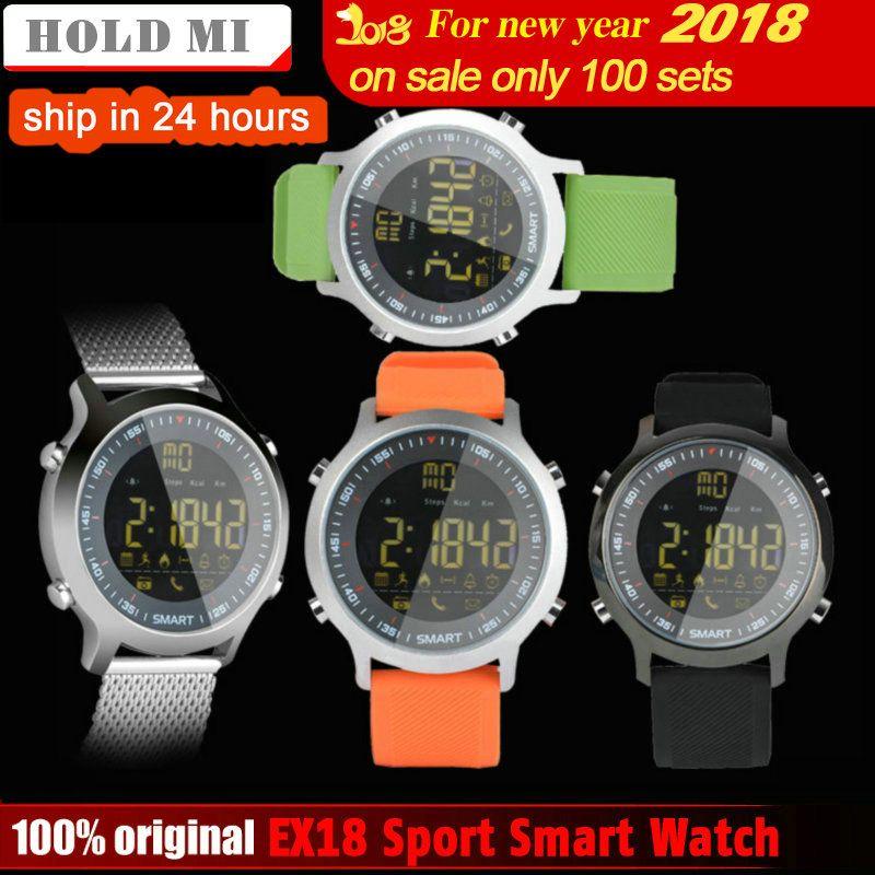 Удерживайте Mi ex18 Спорт Смарт часы Водонепроницаемый IP68 5atm шагомер xWatch Одежда заплыва SmartWatch Bluetooth часы IOS Android