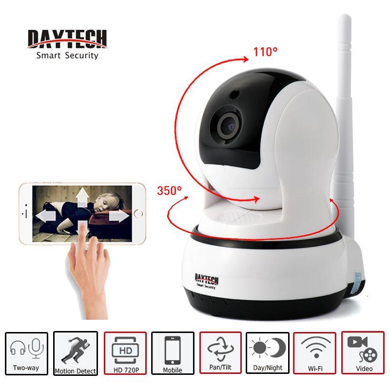 DAYTECH IP Caméra WiFi Accueil Sécurité Surveillance Caméra Jour Nuit Vision Two Way Audio Sans Fil HD Réseau Bébé MonitorDT-C102B