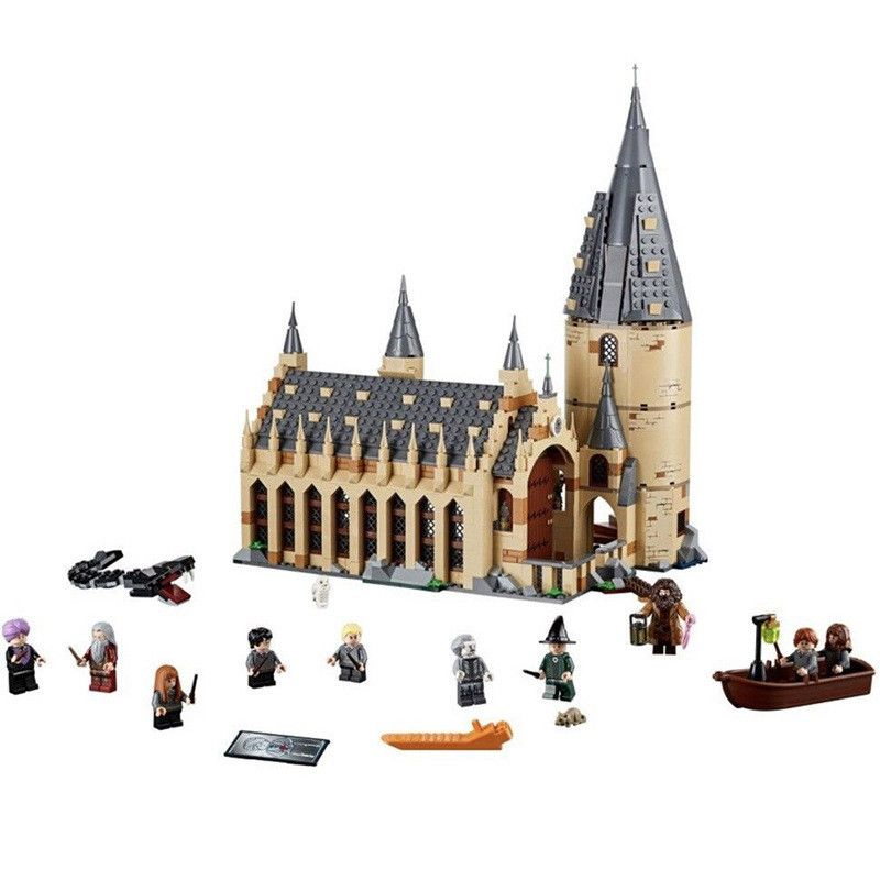 New Harry Potter Serices Hogwarts Great Hall Castle Compatibility Legoing 75954 Building Blocks Bricks Toys Gift Christmas
