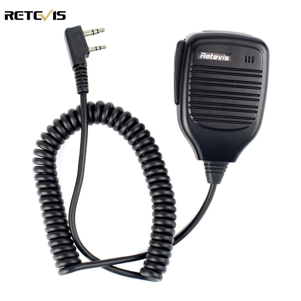 2 Pin PTT Speaker Microphone for Kenwood BAOFENG UV-5R BF-888S Retevis H777 RT3 RT5 TYT PUXING Ham Radio Walkie Talkie C9001A