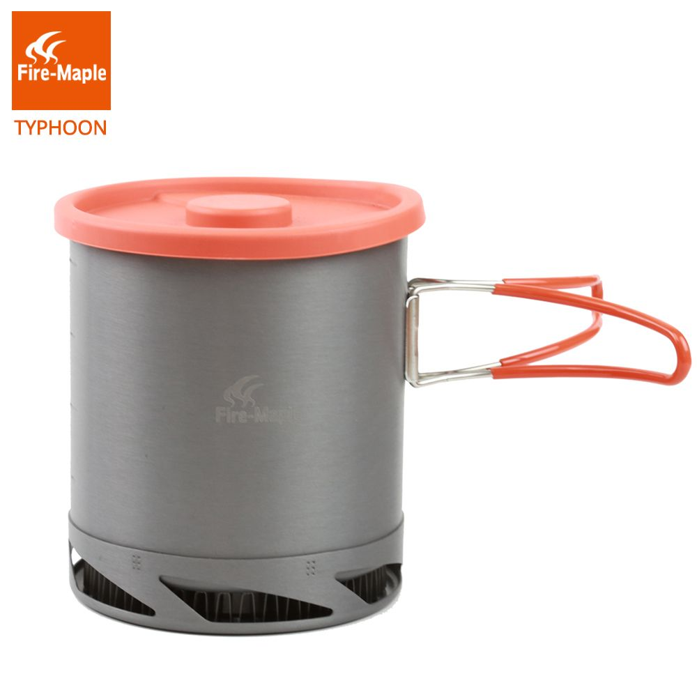 Fire Maple Heat Collecting Exchanger Pot Cup Camping Picnic Cookware Pot Foldable Handle 1L with Mesh Bag FMC-XK6