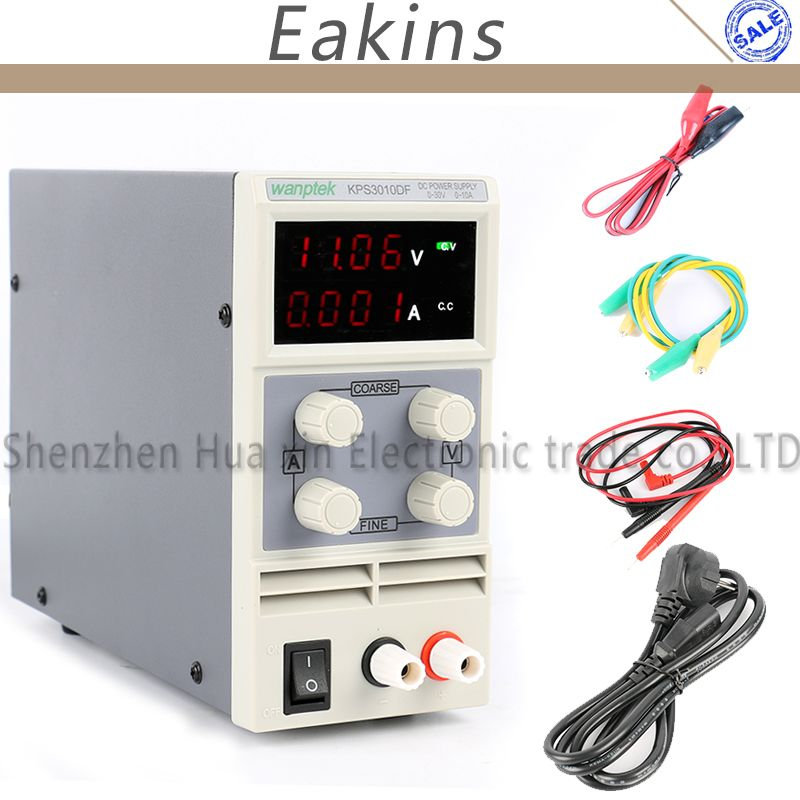 KPS3010DF 0-30V/0-10A 110V-230V 0.01V/0.001A EU LED Digital Adjustable Switch DC Power Supply mA Display 4 Digits