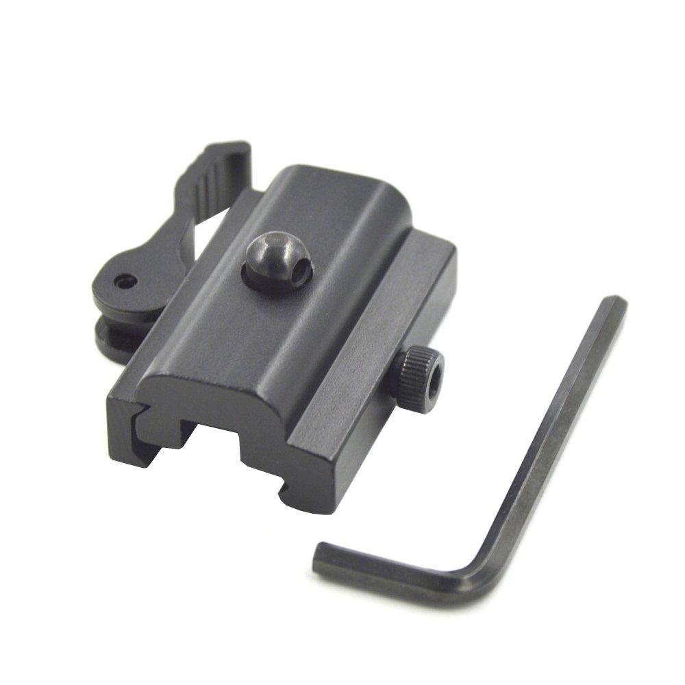 1 PC Y0055 QD fixation rapide de l'adaptateur de bride de Bipod de verrouillage de came pour Picatinny Weaver Rail 20mm Bipod ou élingue pivotant Airsoft