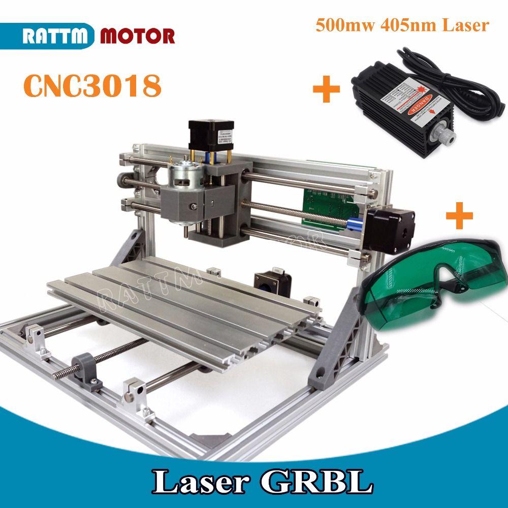 EU Delivery!! CNC 3018 GRBL control Diy CNC machine 30x18x4.5cm,3 Axis Pcb Pvc Milling machine Wood Router laser engraving v2.5
