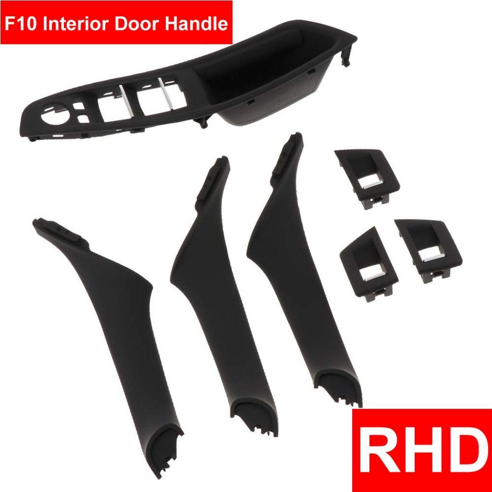 4/7 PCS Set Rechten Hand Stick RHD Für BMW 5 series F10 F11 520 525 Schwarz Beige Grau auto Innen Tür Griff Inneren Panel Pull Trim