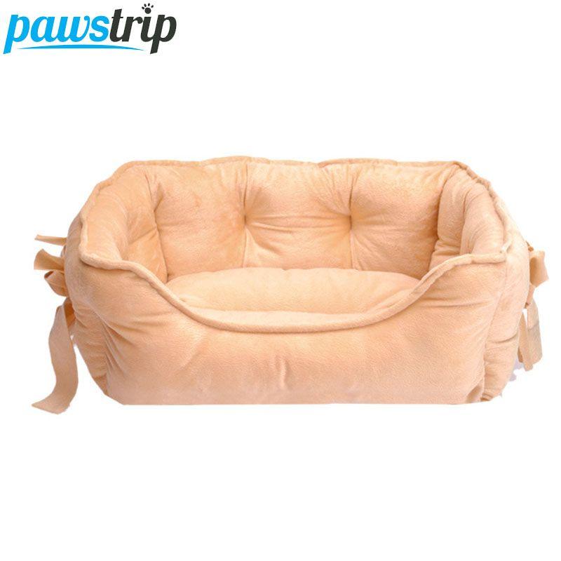 4 цвета принцессы с бантом собака кровать из мягкого флиса кошка дом зима теплая маленький щенок кровать для чихуахуа S/L