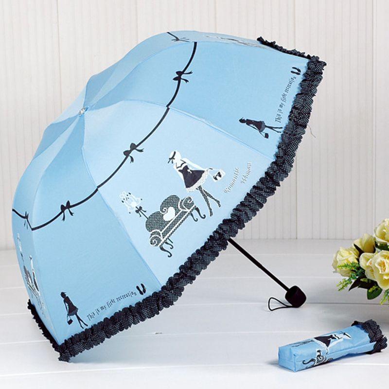 2018 New <font><b>Arrival</b></font> Beautiful Girl Pattern Umbrella Rain Women Fashion Arched Princess Umbrellas Female Parasol Creative Gift US041