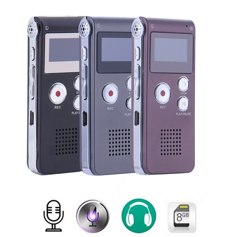 Neue Wiederaufladbare 8 GB Digital Audio Sound Voice Recorder Diktiergerät Mp3-player Hohe Qualität Mini Digitale Aufnahme Stift