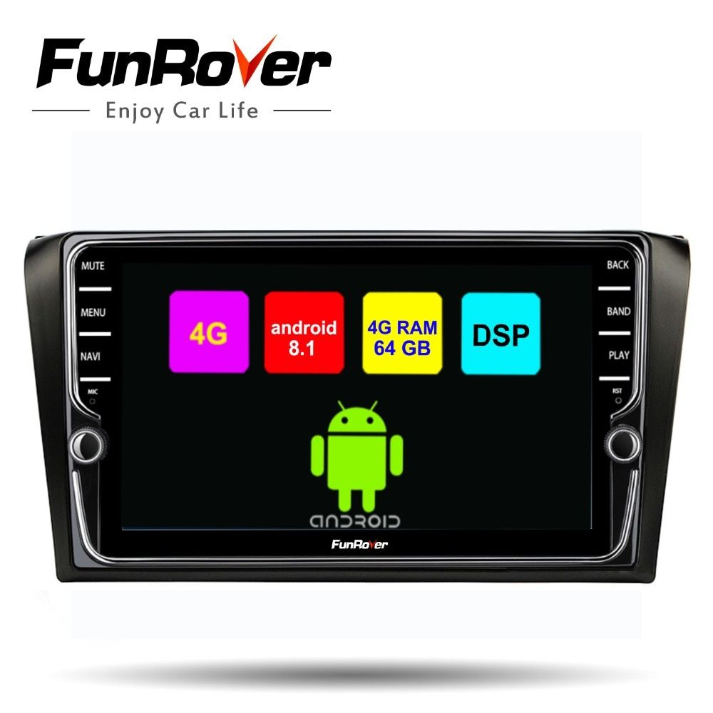 Funrover 8 cores Android 8.1 2 din car multimedia dvd player For Mazda 3 2004-2009 gps radio audio stereo navi Split screen DSP