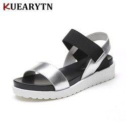 2018 nueva venta caliente Sandalias mujeres verano Slip en zapatos Peep-toe zapatos Sandalias romanas Mujer Sandalias señoras flip Flops sandalia