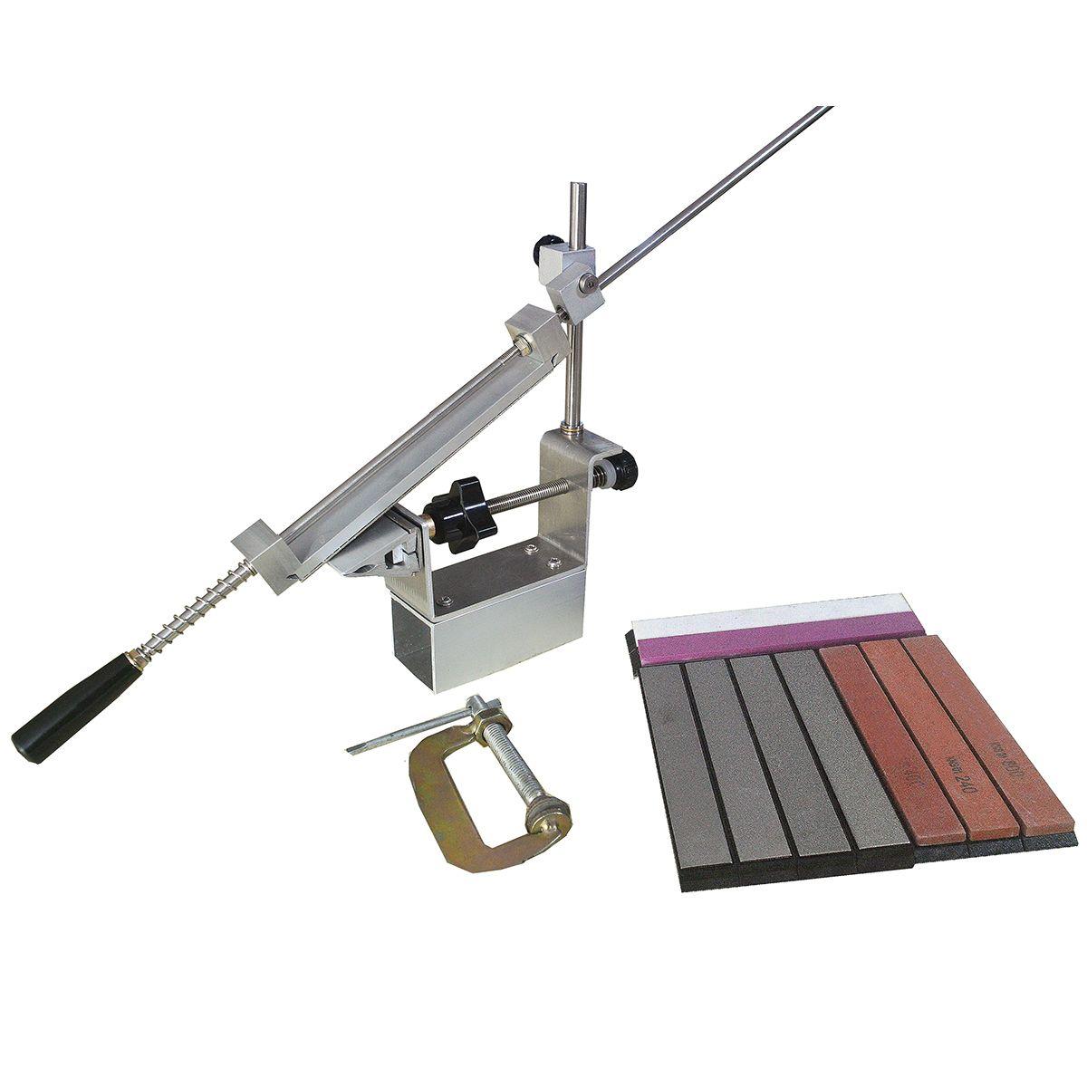 Affûteuse de couteau professionnel plus grand degré plus récent Portable 360 degrés Rotation clip Apex bord bord KME système 1 diamant pierre