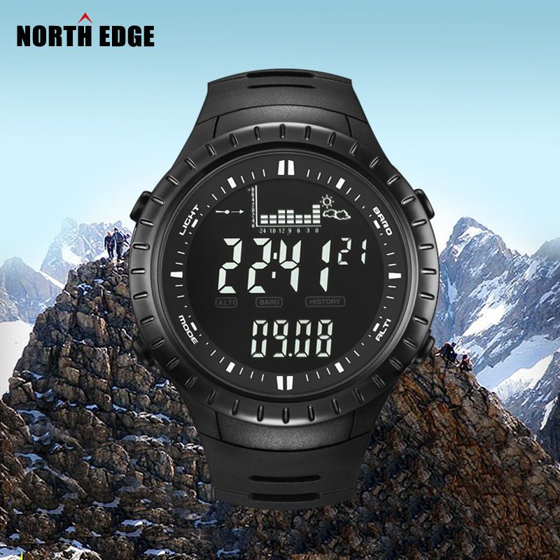 Hot!!! Fishing Altimeter Barometer Thermometer Altitude Men Digital Watches Sports Clock Climbing Hiking Wristwatch <font><b>Montre</b></font> Homme