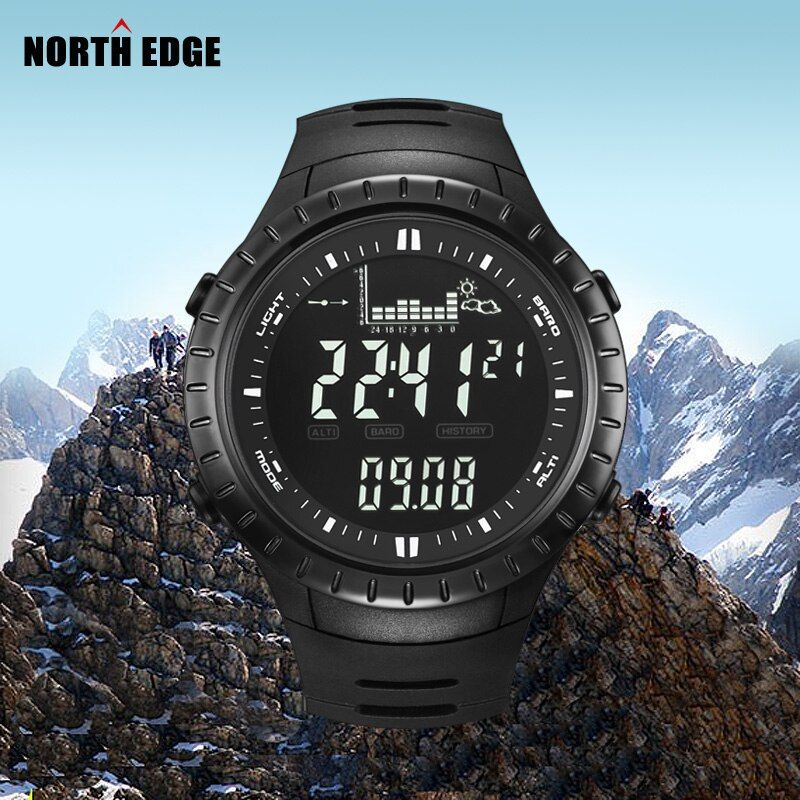 Hot!!! Fishing Altimeter <font><b>Barometer</b></font> Thermometer Altitude Men Digital Watches Sports Clock Climbing Hiking Wristwatch Montre Homme