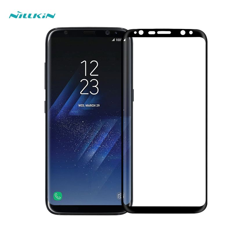 Nillkin 5.8 inch for samsung galaxy s8 screen protector fully <font><b>cover</b></font> CP+ 2.5 D round edge thin for samsung s8 tempered glass