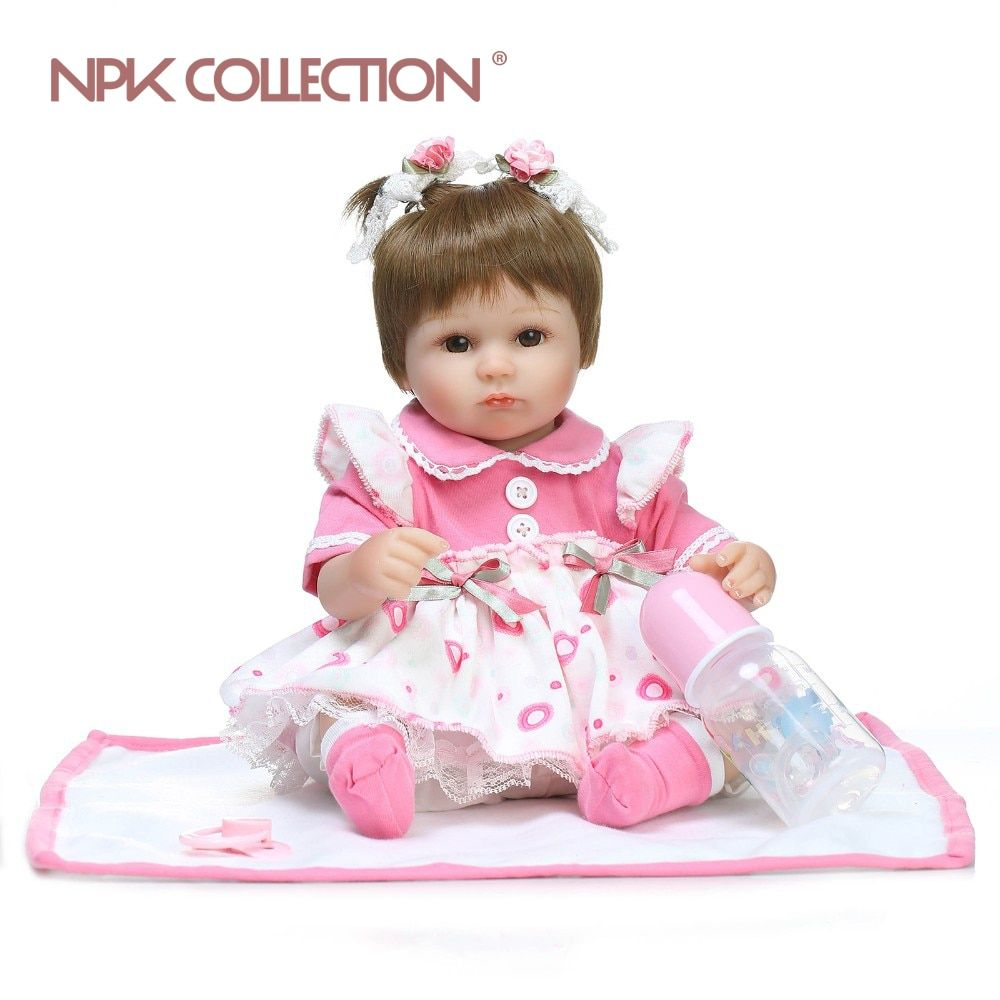 NPKCOLLECTION 40cm boneca reborn soft silicone reborn baby doll realista fashion baby dolls playing hot toys for kids Christmas