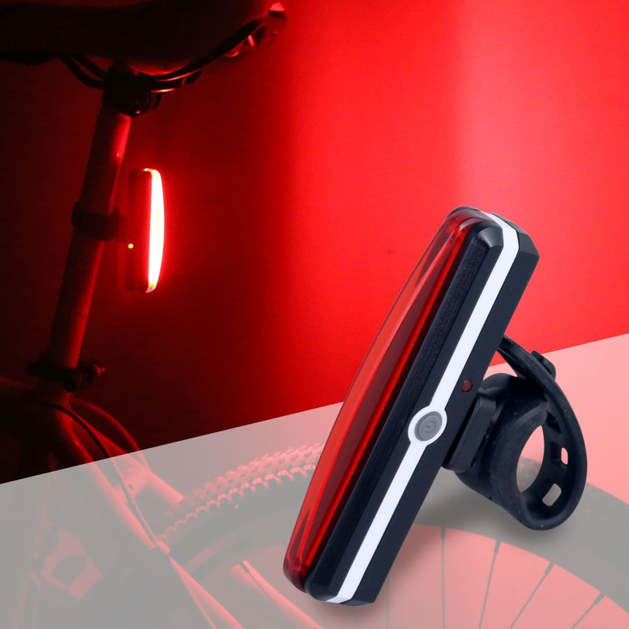 Raypal 2266 Bicycle USB Rechargeable Tail Light Bike Cycling Rear Lamp Taillight COB LED Rain Water Proof