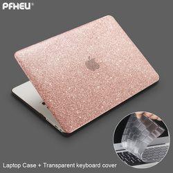 Pour Macbook Air Pro Retina 11 12 13 15 pouce avec Tactile Bar Nouveau, PFHEU Briller Laptop Case + couvercle du clavier Transparent