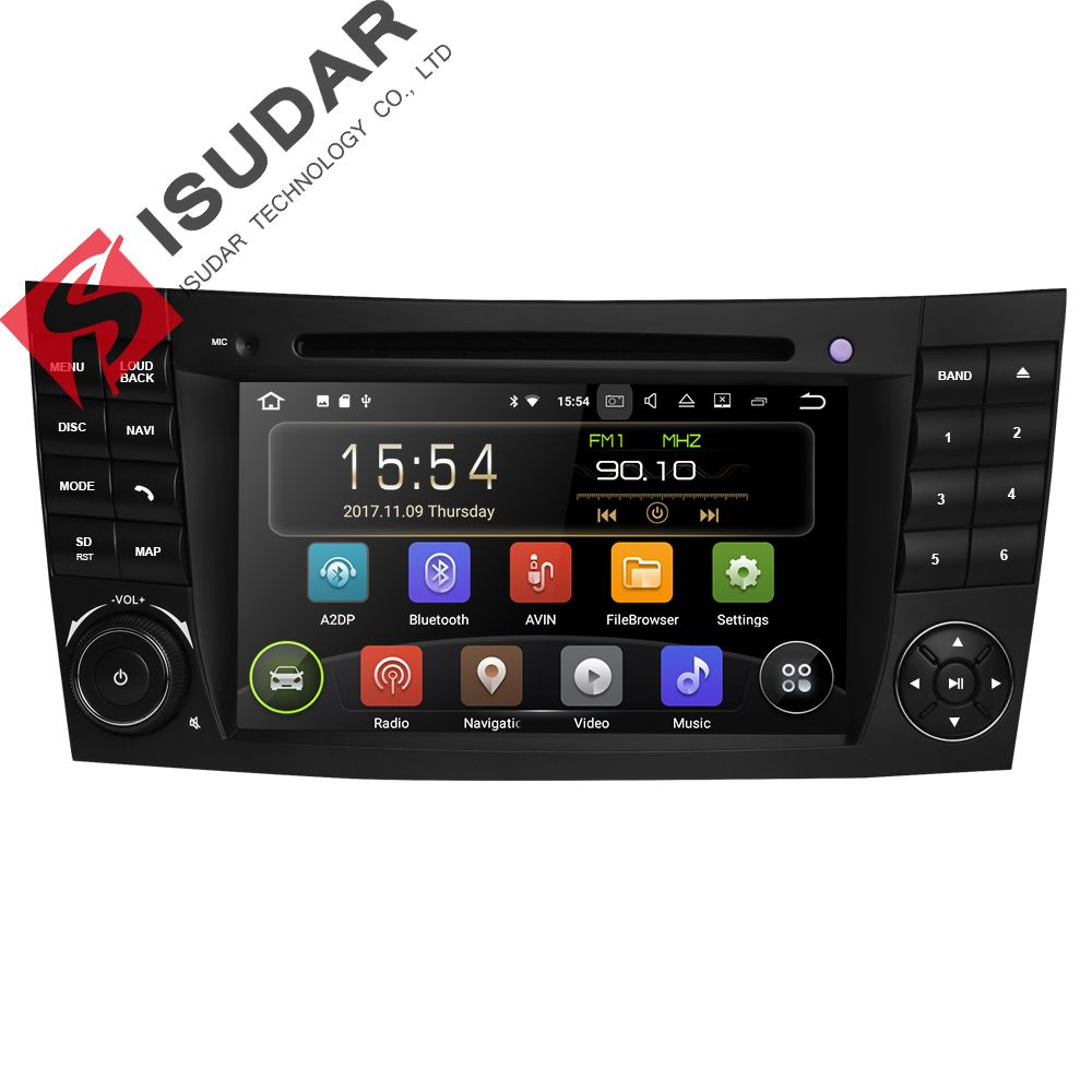Isudar Two Din Car Multimedia Player Android 7.1 DVD Player For Mercedes/Benz/E-Class/W211/E300/CLK/W209/CLS/W219 GPS Radio 16GB
