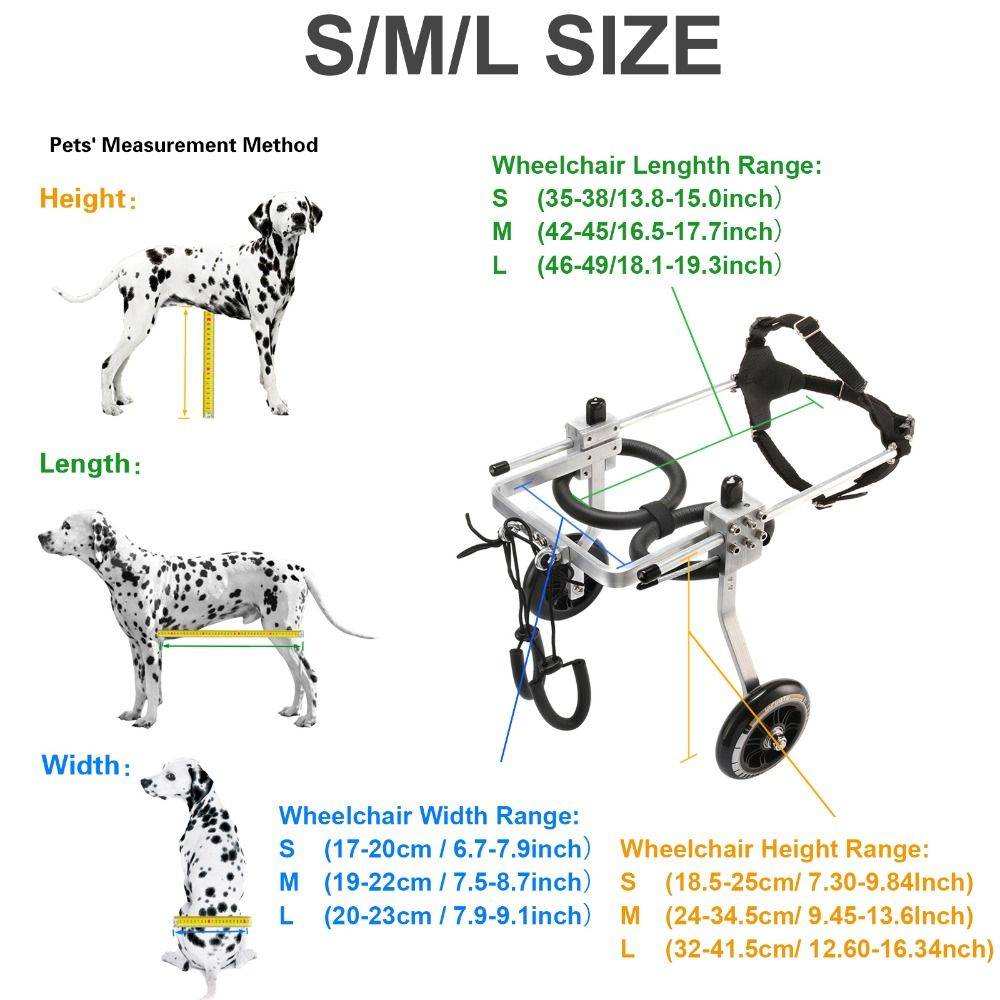 Pet Wheelchair / Paralyzed Pet Wheelchair / General Paralysis Dog Scooter / Disabled Dog Rehabilitation Wheelchchair