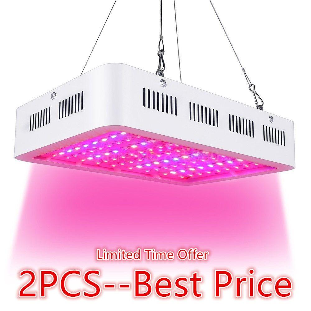 2PCS LED Grow Light 1000W Full Spectrum Plant Light For Medical Flower Plants Vegetative indoor Greenhouse Grow Tent Wholesale