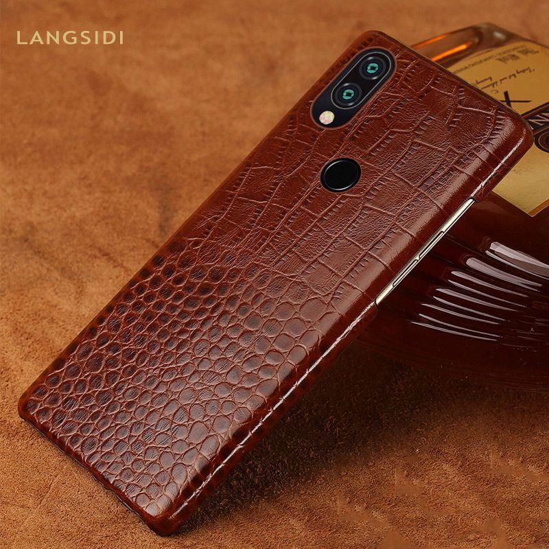 Véritable Cuir housses pour Rouge mi Note 7 7Pro K20 K20pro Note 5 4X étui de téléphone pour xiaomi mi 9 9T 9TPRO 8 Lite Pocophone F1 couverture