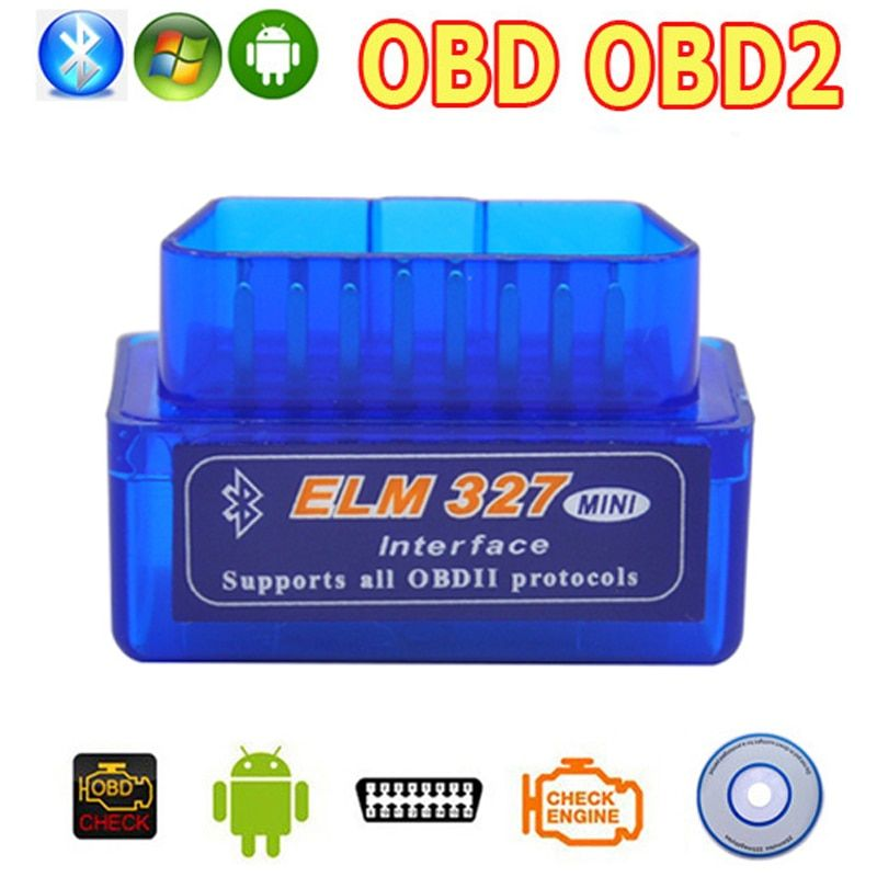 OBD2 OBD ii Wireless V2.1 Super Mini ELM327 Bluetooth Interface Car Scanner Diagnostic Tool ELM 327 For Android Torque Windows