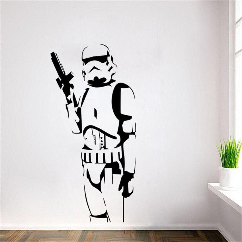 DIY Star Wars Caractère Stickers Muraux Approprié Pour Le Salon Home Decor Art Affiches