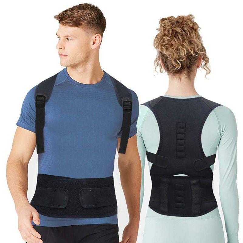 Ajuster la thérapie magnétique dos Posture correcteur orthèse épaule dos soutien ceinture épaule Posture pour unisexe
